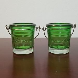 Yankee Candle Votive Holder Holiday Green 2 pc
